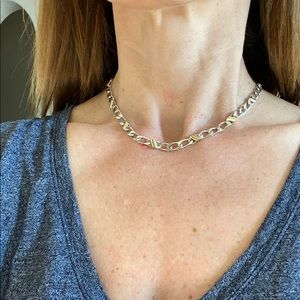 Tiffany and Co gold and silver chain.